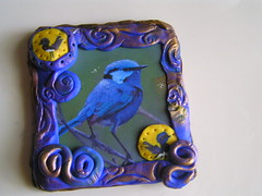 Blue wren magnet | by Poppins Mosaics and Crafts