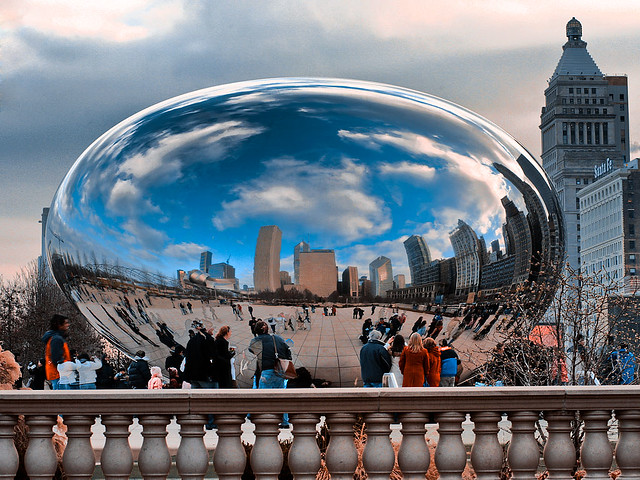 Envisioning futuristic construction materials via Chicago's Magic Bean. Credit: Ivor Krivokon, Flickr