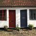 Aarhus red and blue doors