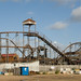 Broken-rusting rollercoaster on Hayling island