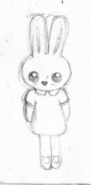 Flossy Bunny Drawing | by Stitcher Scribbler