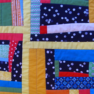 Baby Quilt from Denyse Schmidt Quilting Workshop | by www.rachaelrabbit.blogspot.com