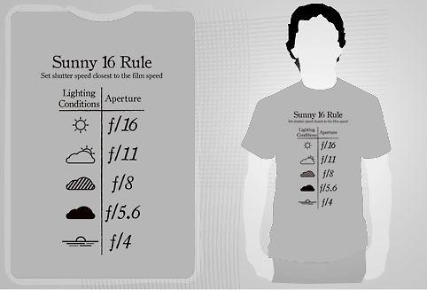 Sunny F 16 Rule T Shirt Black The Useful Sunny 16 Rule