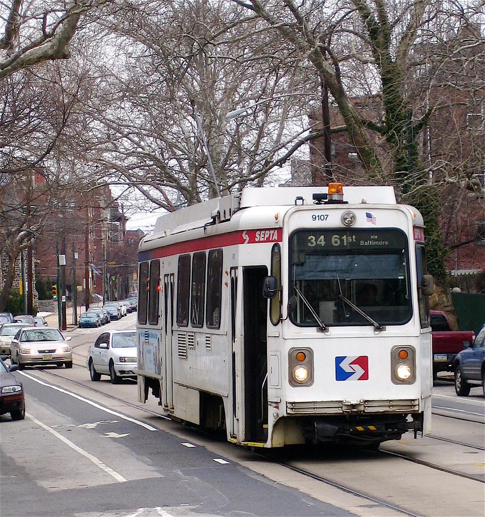 septa route 34 trolley | a kawasaki septa trolley, no. 9107,… | flickr