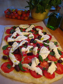 PIZZA MARGHERITA ready to go in the AGA | by AGA~mum