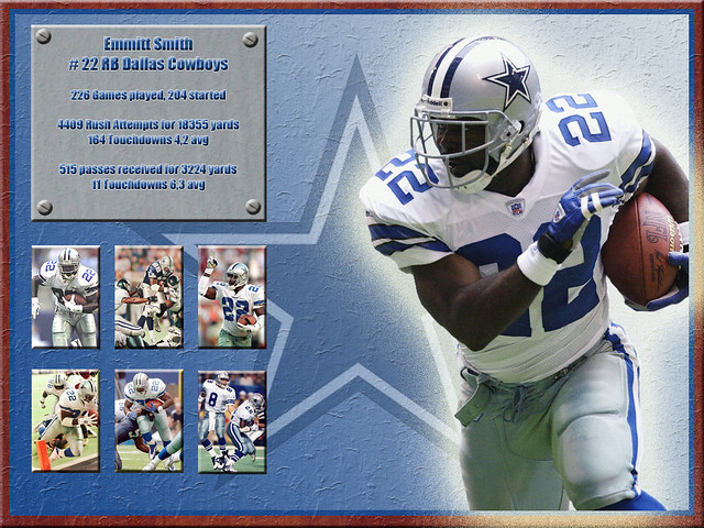 emmitt smith a wallpaper of dallas cowboys runningback