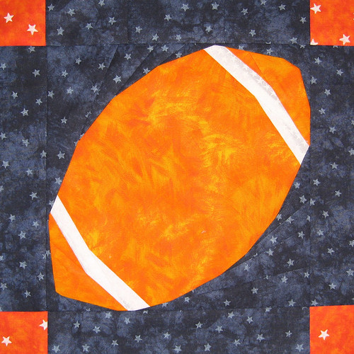 Football Quilt Square for kelleaj | by Jennifer Ofenstein (sewhooked.com)