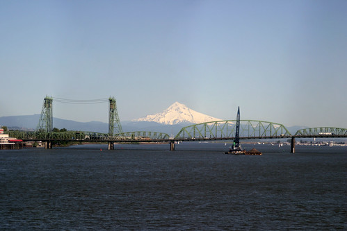 Columbia River Crossing with Mt Hood | by devlyn
