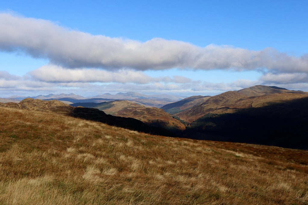 Towards the Lawers hills