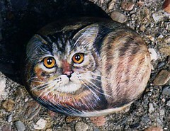 Tabby cat painted on the rock | by Alika-Rikki