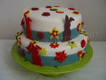Osterhasen Retro Bluten Torte Easter Cake Tortenfiguren Flickr