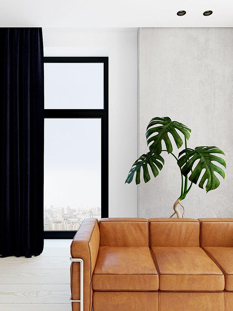 Modern minimalist interior design with skin tones by Emil Dervish Sundeno_02