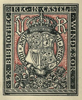 Bookplate of HRH Queen Victoria for the Windsor Castle Library by Mary Ryfield | by CharmaineZoe's Marvelous Melange