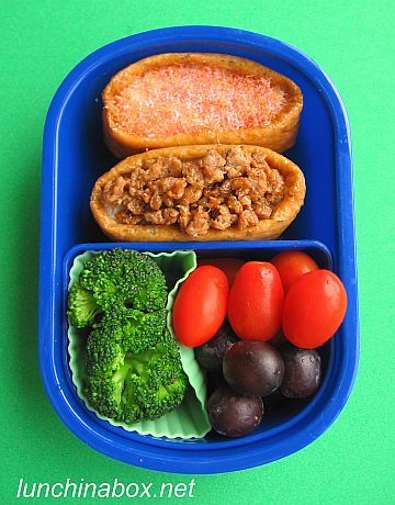 Stuffed inarizushi bento lunch for preschooler | by Biggie*