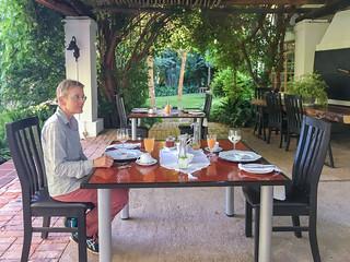 Frühstück im African Vineyard Guest House