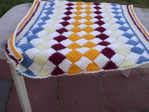 Tunisian entrelac crochet lapghan | yourfrienddc | Flickr