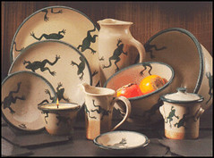 Frog Dinnerware | by sonomagifts ... & Frog Dinnerware | Salt Glazed dinnerware made in Maine. The u2026 | Flickr