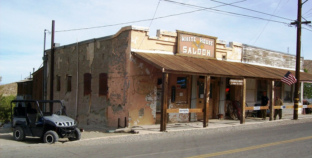 White house saloon in the middle of randsburg 39 living 39 gho for How did the white house get its name