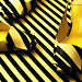 The stripe shoes by Rodolphe Menudier Paris