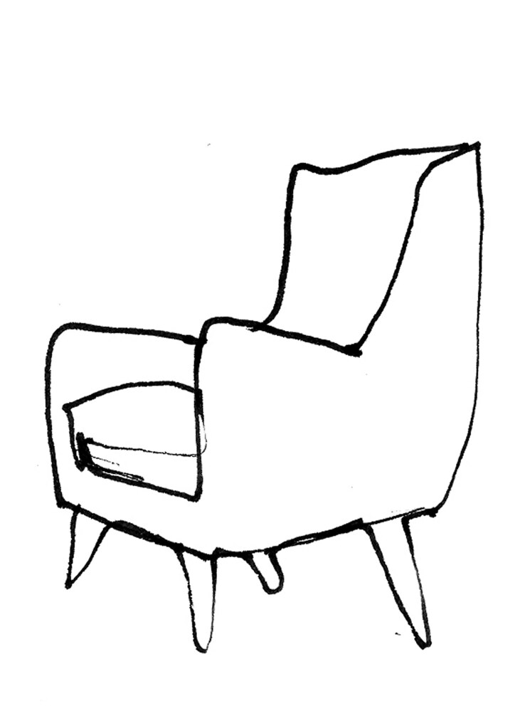 Comfy Chair Drawing O