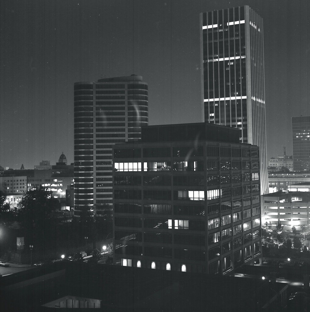 Portland oregon usa at night 1974 taken in downtown - Camera world portland ...