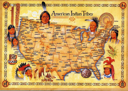 Wish American Indian Tribes USA map Wish pcerochester Flickr