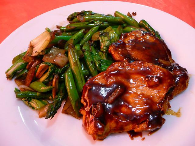 Oriental pork chops with oyster sauce green beans | Dinner 1 ...