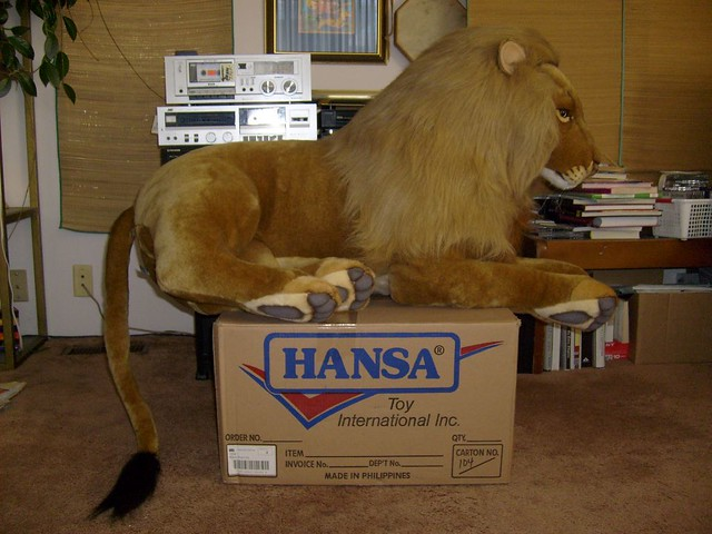 Realistic Large Plush Lion This Is One Of The Best Quality Flickr