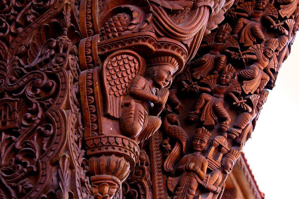 Baps Shri Swaminarayan Mandir Wood Carving Detail Flickr