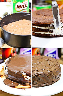Raspberri Cupcakes Milo Cake