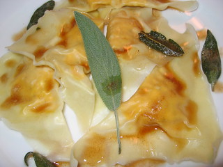 Pumpkin and Cream Cheese Ravioli in Browned Butter and Sage Sauce | by Kevin - Closet Cooking