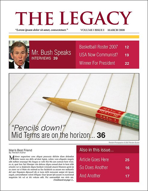 ... High School Newspaper Template   By Arnold Dude