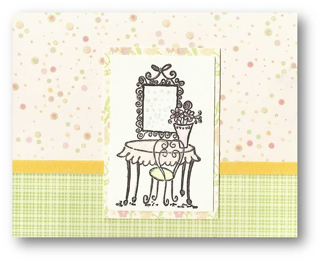 Vanity table stamped card hand stamped greeting card from flickr vanity table stamped card by dluxedesigns m4hsunfo