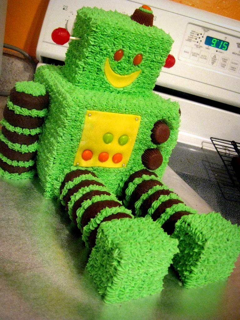 Robot Cake Birthday