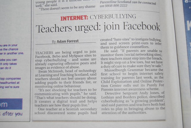 cyberbullying newspaper article