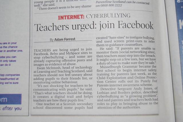 cyberbullying newspaper article