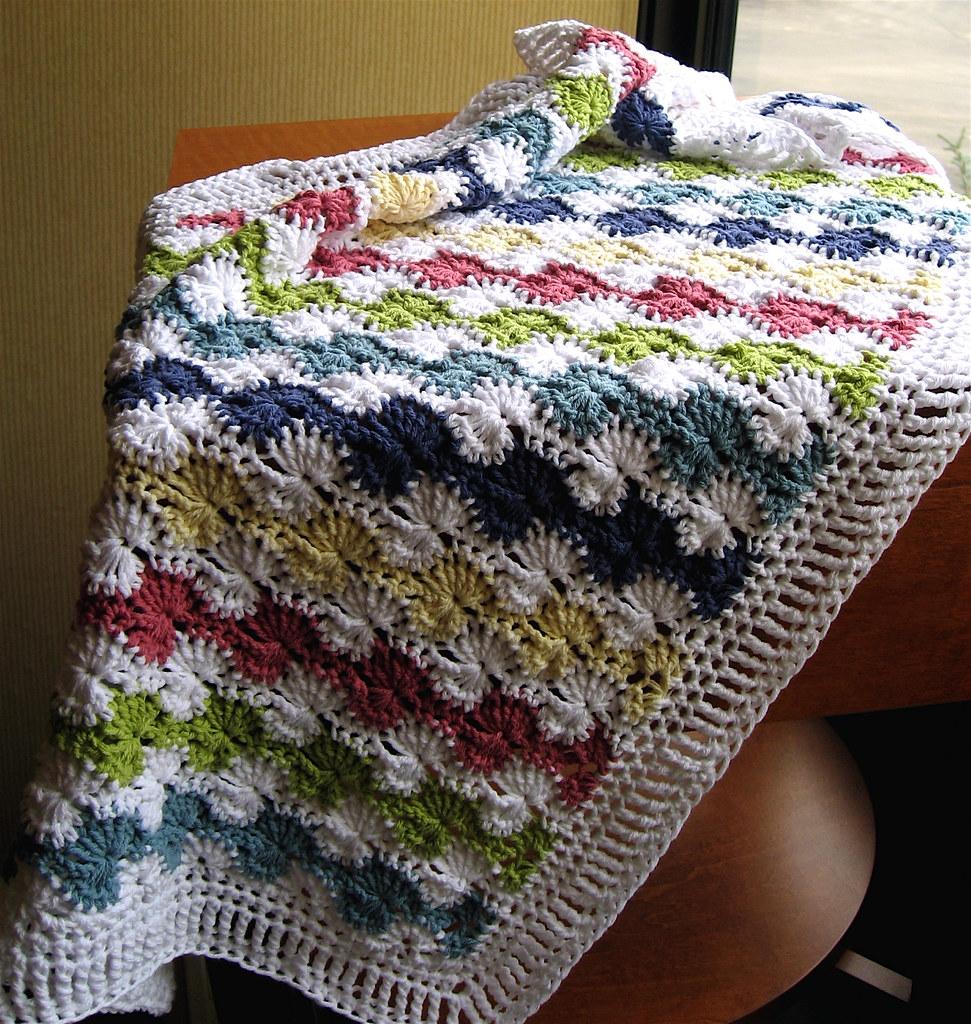 Crocheted Baby Blanket Lion Brand Cotton Ease I Hook