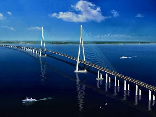 Sutong bridge map