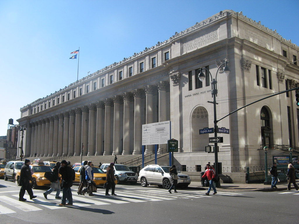 Main Post Office The James A Farley Post Office Across