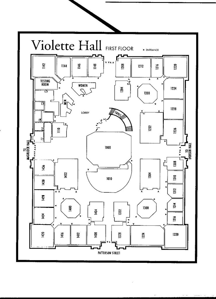 first floor of violette hall