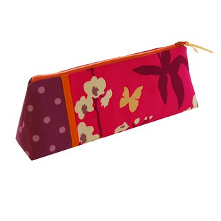 Zipper pouch with orchids and butterflies | by Jennifer Ladd handmade