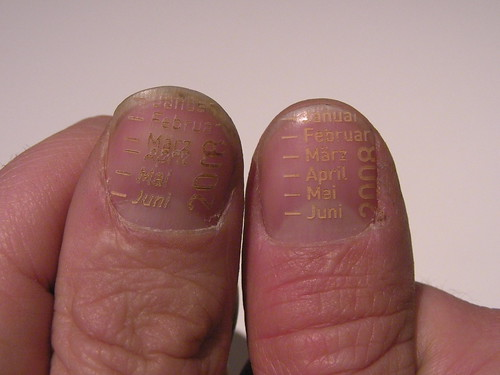 A Calendar Laser Etched Into Fingernails | by bre pettis