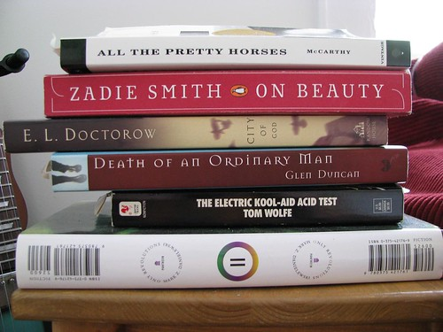 The Dreaded Unread Books Stack | by altcountrystar