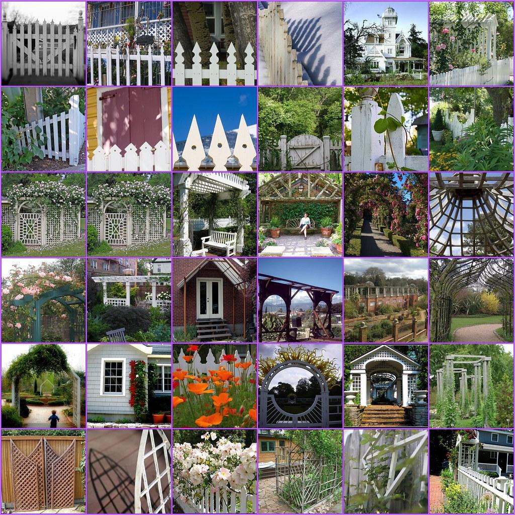 Fence Gate Arbor: Looking For ...Garden Ideas Picket Fences, Gates, Pergolas