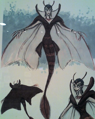 Early drawings of Ursula, the sea witch in The Little Mermaid. | by ...