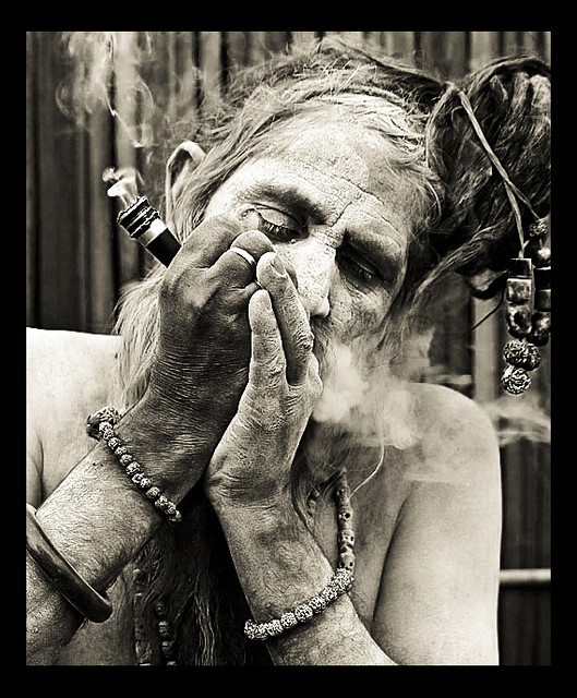 the chilam   smoking baba the naga sadhus or warrior