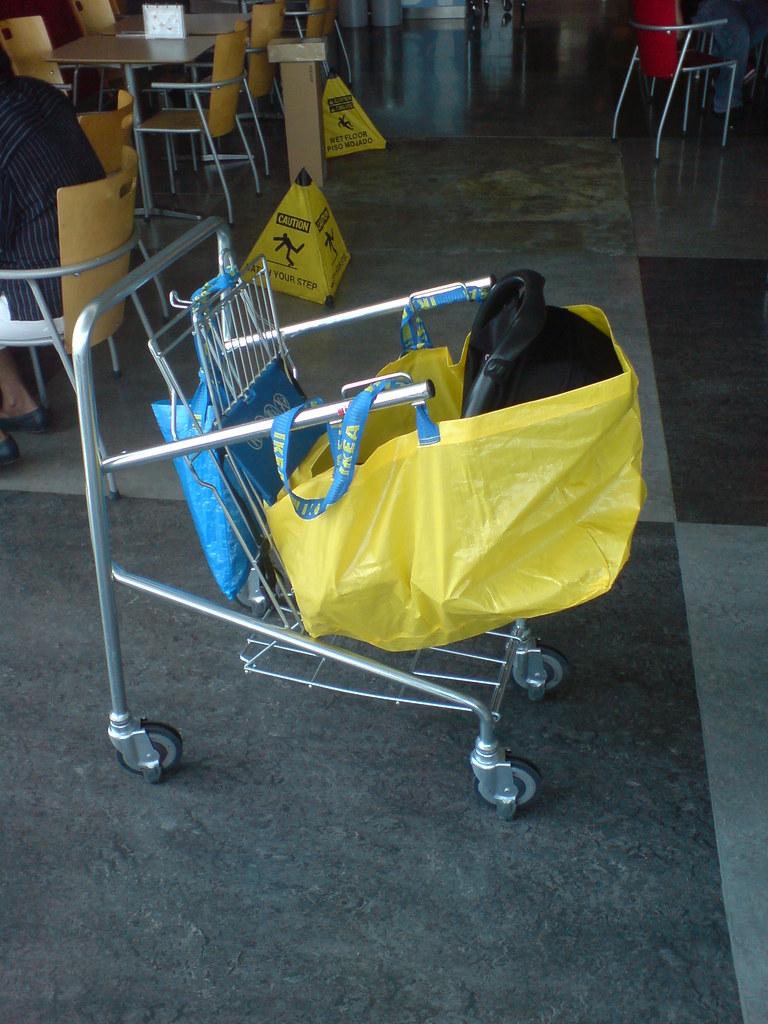 Ikeahack car seat ikea bag cart stroller i for Ikea luggage cart