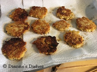 Cheesy Potato Cakes: Fried | by Dianne's Dishes