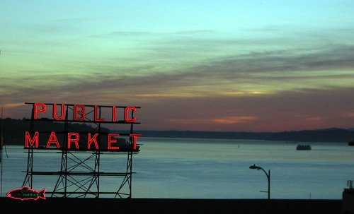 Pike Street Market at dusk | by dolescum