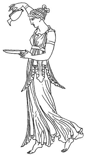 ancient greek clothing coloring pages | Hebe, drawing from ancient Greek original, in J. Moyr Smit ...